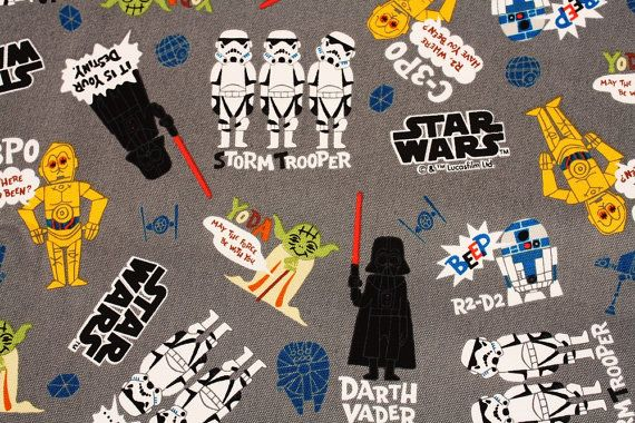 Star Wars Fabric made in Japan 45cm by 53cm or by SewingdoingShop