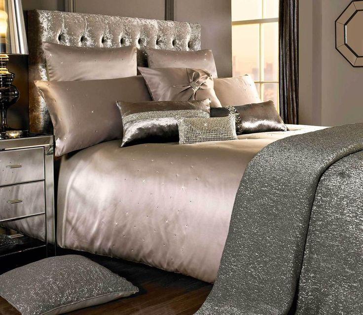 MIRIANA by Kylie Minogue Nude Beige Bedding/ Bed Linen: Duvet, Cushions or Throw #KylieMinogueBedding #Modern