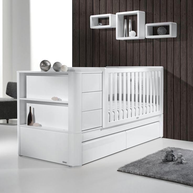 Luxury Wundersch nes Multifunktionsbett von TRAMA Serie Arc Kiefernholz wei umbaubar zum Jugendzimmer