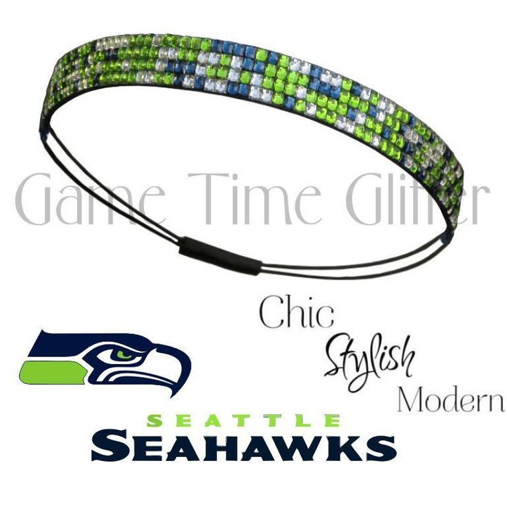 NWT Seattle Seahawks Team Color Womens Rhinestone Headband Wear w/ Your Jersey in Sports Mem, Cards & Fan Shop, Clothing, Shoes & Accessories | eBay