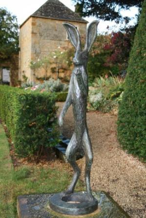 British Artist Stanley DOVE   A Very Tall Garden Rabbit.