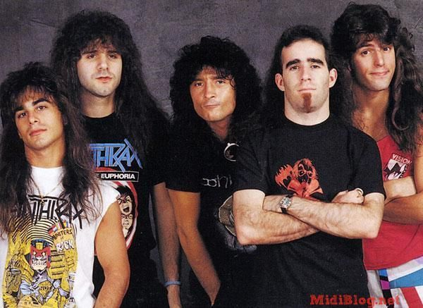 Anthrax 1987 From L to R: Dan Spitz, Charlie Benante, Joey Belladonna, Scott Ian, Frank Bello