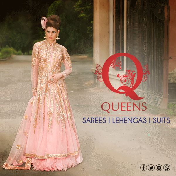 Choose from a wide range of rich, Intricate designs to wear.  #QueensEmporium #EthnicWear #Lehenga