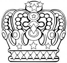 Kleurplaat kroon voor koningsdag | Meer ideeën: http://www.jouwwoonidee.nl/koninginnedag-knutselen/