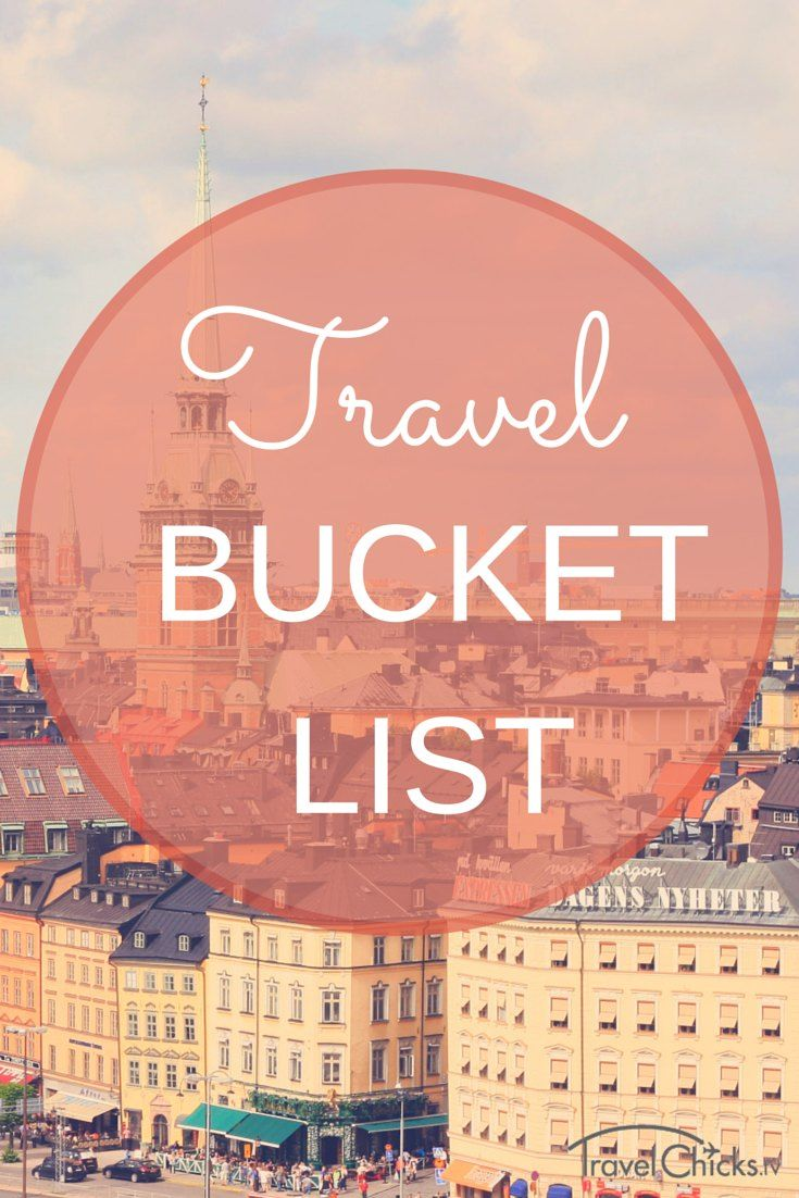 Travel Bucket List - 15 Things to See in Europe in 2015. This is the year. Let's do it!
