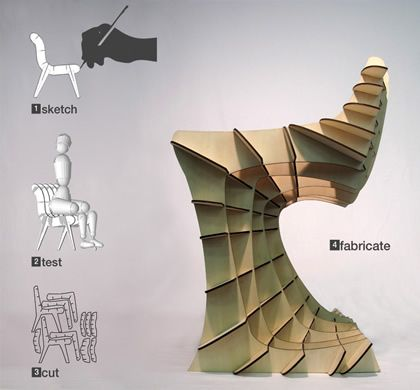 App that lets you build your own cardboard chair