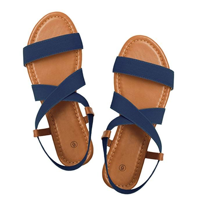 c6346602e9730 Amazon.com | Rekayla Flat Elastic Sandals for Women | Flats | Shoes ...