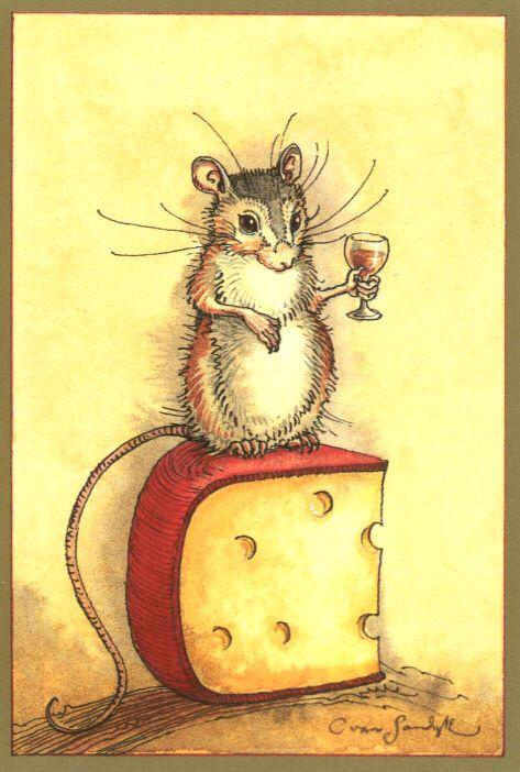 Animal Wisdom - Mouse Cheese Wine by Charles van Sandwyk ...