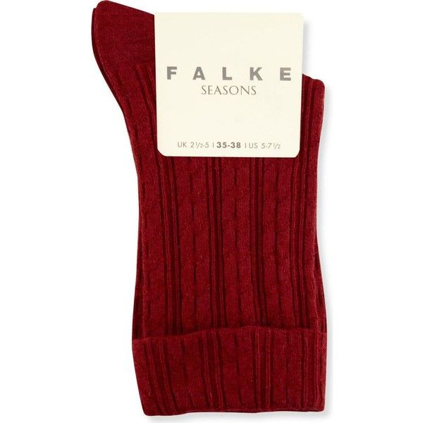 FALKE Cotton-blend socks ($18) ❤ liked on Polyvore featuring intimates, hosiery, socks, falke hosiery, falke, cotton blend socks and falke socks