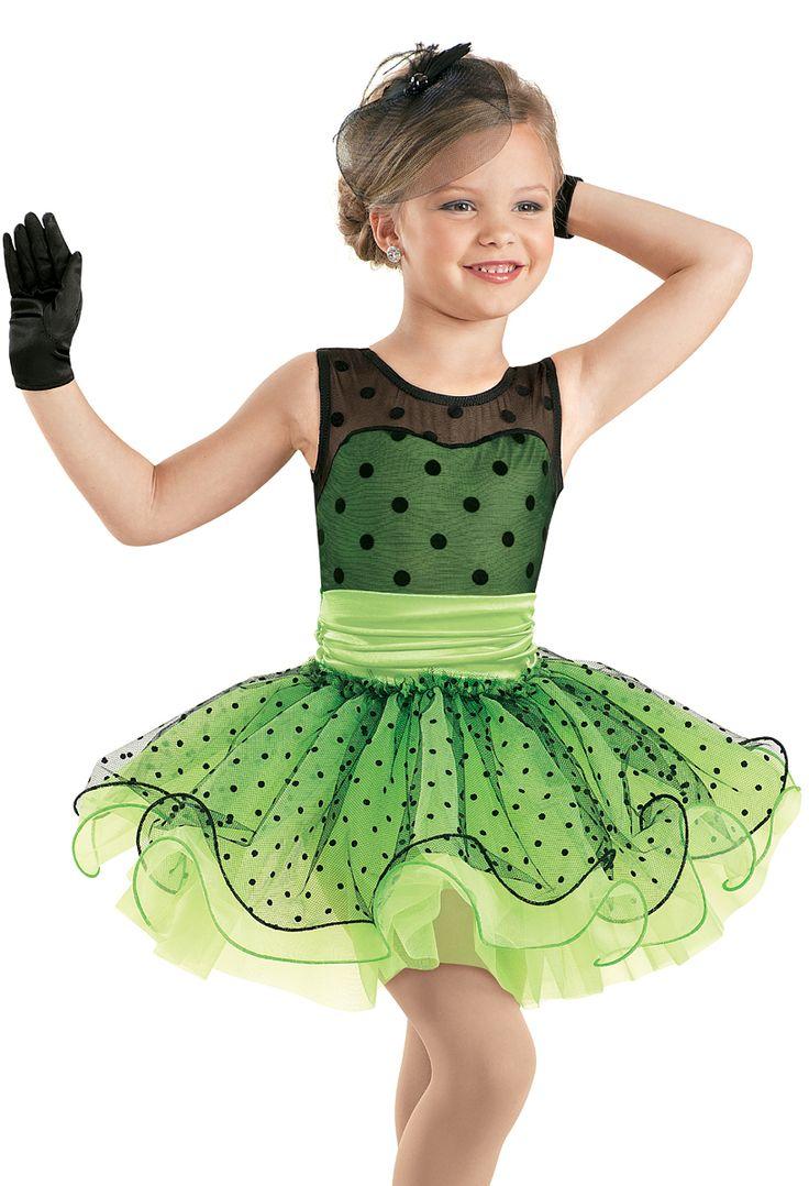 Weissman™ | Satin Dot Curly Hem Tutu Dress. Caterpillar Express