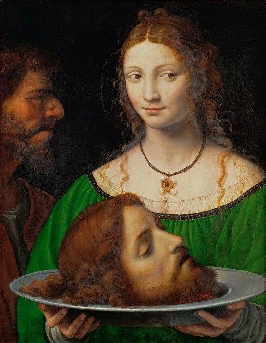 Бернардино Луини - Соломея с головой Иоанна Крестителя.