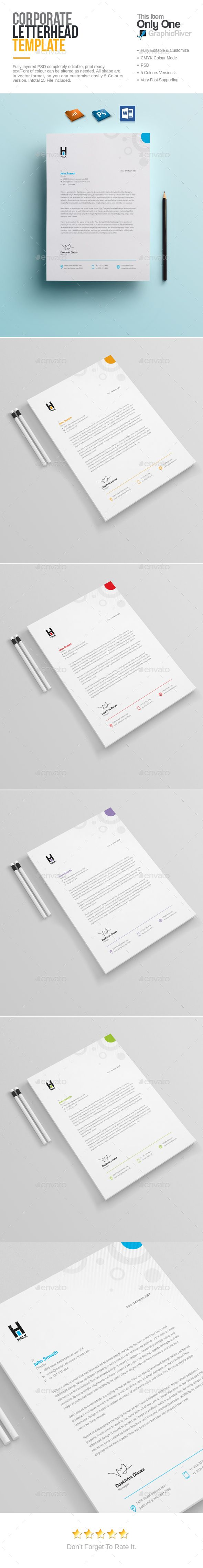 Letterhead  #business #corporate #PSD • Click here to download ! http://graphicriver.net/item/letterhead/15907014?ref=pxcr