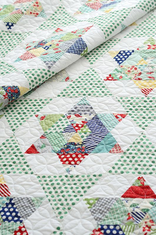 Working in traditional and modern quilts, equilateral triangles are a terrific tradition. Check out our roundup of lovely patterns using this fun shape!