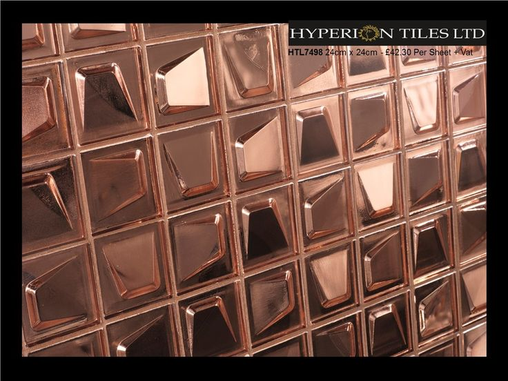 One of our metallic effect designer mosaics.