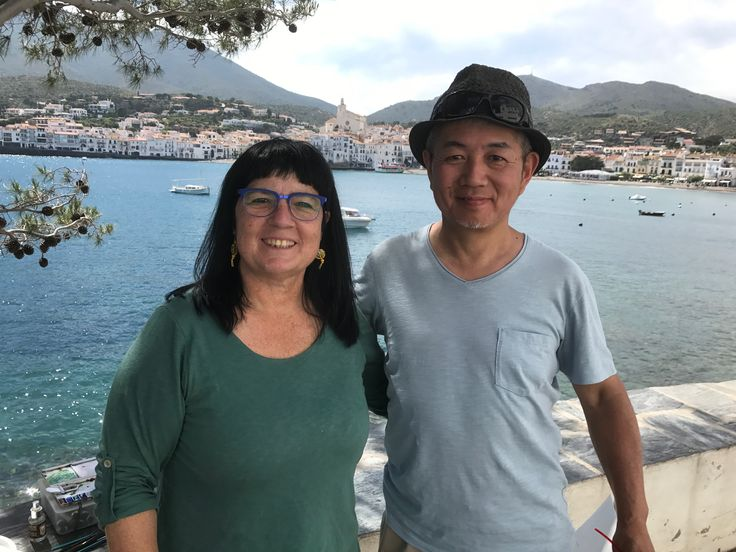 Kazuo Kasai with Angela in Cadaques Spain
