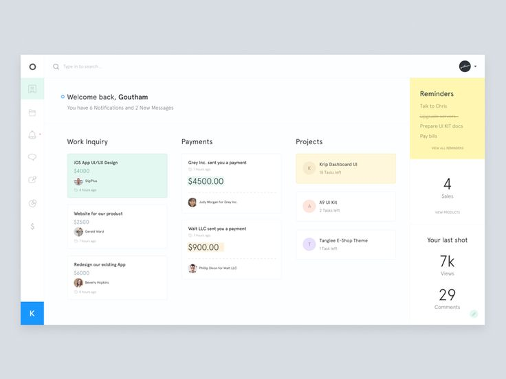 K-Dashboard preview