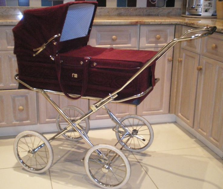Vintage Mothercare by Marmet Carrycot Pram coachbuilt Chrome Fold down chassis