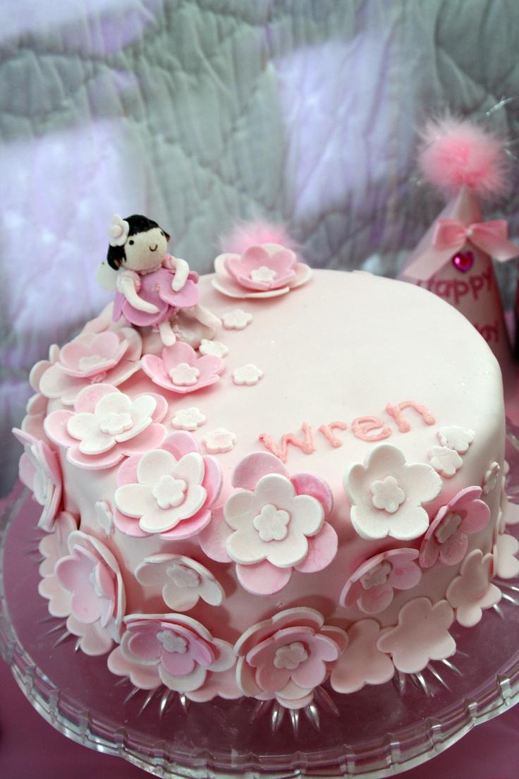 Gumpaste Girl / Flower Cake