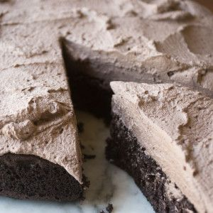 Quinoa Chocolate Cake Gotta try making this cake with the paleo frosting from Tammy Credicott!