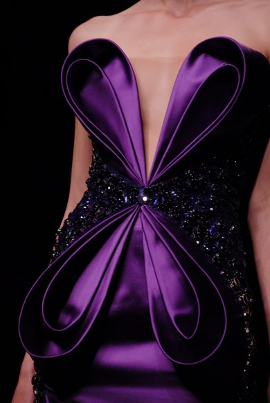 Amazing deep purple color.  Absolutely beautiful evening dress.