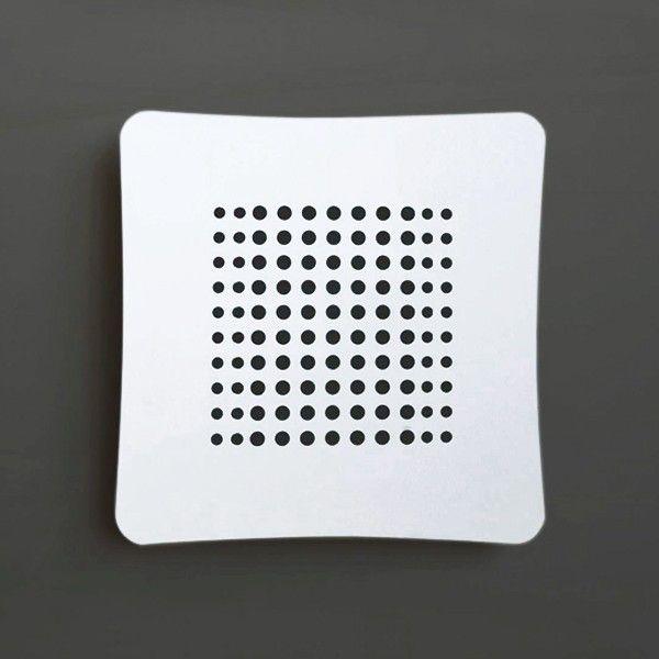 #Astro #griglia #areazione in ABS #design #ErvasBasilicoGirardi Studiata con passaggi laterali per evitare aria di stravento Durevole nel tempo Facile da pulire Semplice da installare Permette una riduzione dell'umidità Consente un maggior isolamento acustico Passaggi a norma ISO 5219 – UNI 8728 – UNI CIG 7129. #grigliedecorative #AirDecor www.fuoridesign.it #fuoridesign
