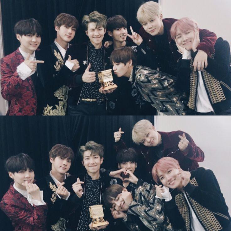 BTS won👏🏻 🏆 Best Dance Performance 🏆ARTIST OF THE YEAR  Hwaiting✊🏻 #2016MAMA