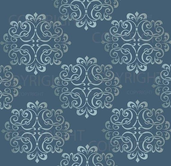 LARGE WALL DAMASK STENCIL PATTERN 12 inch x 12 inch FAUX  MURAL