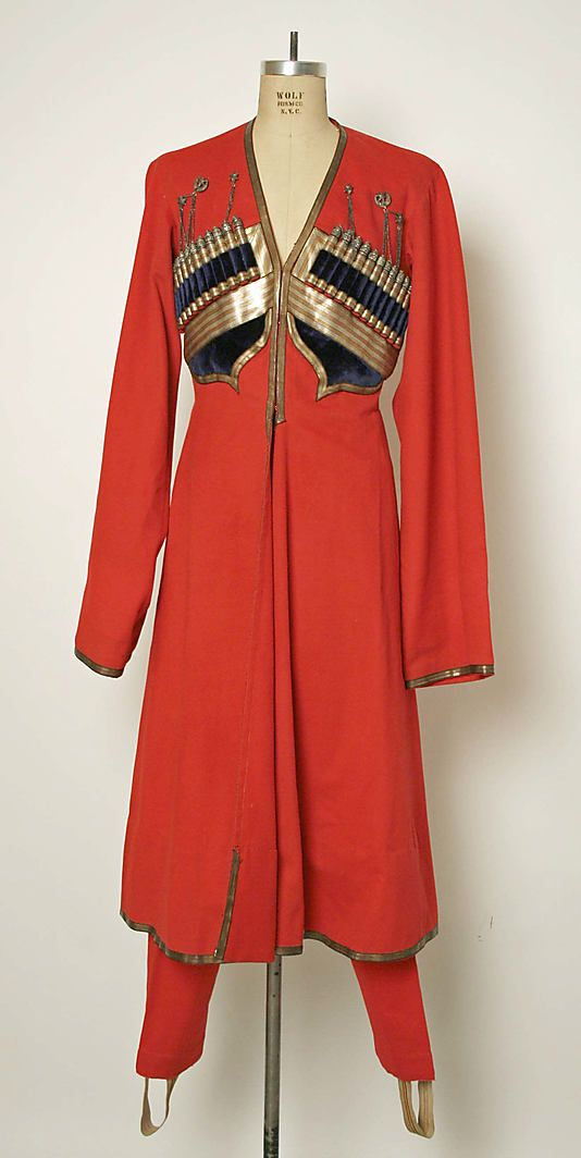 Military uniform Date: 1700–1913 Culture: Russian Medium: wool, cotton, metallic thread, silver, leather, fur, metal