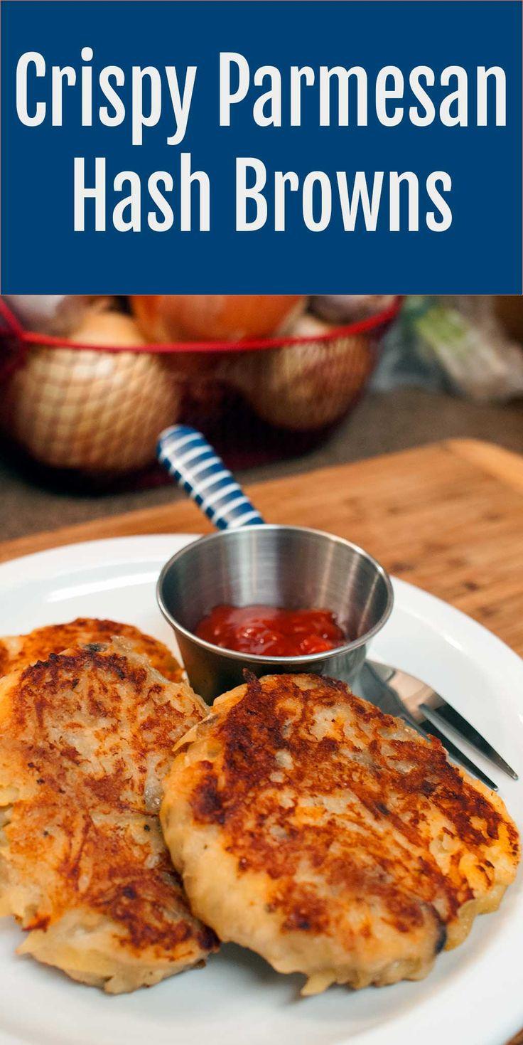 Super Crispy Parmesan Hash Browns | Recipe | Brown, Hash browns and ...
