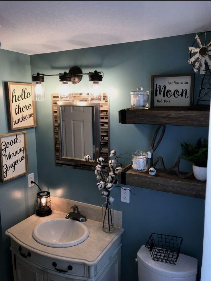 Diy Bathroom Decor Ideas In 2020 Diy Bathroom Makeover Bathroom Decor Small Bathroom Decor