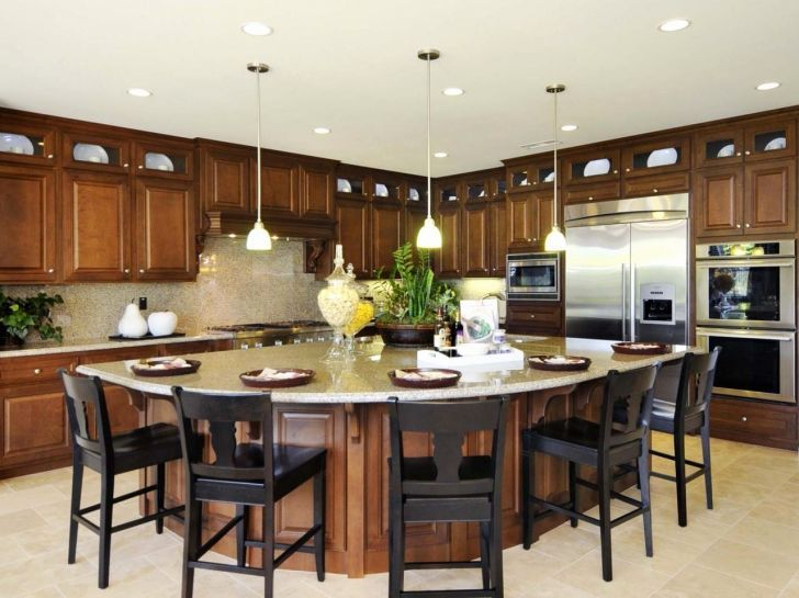 Large Oval Wood Marble Top Kitchen Island Designs Kitchen