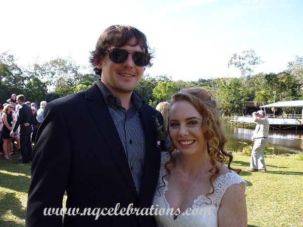Mel and Jack who were married at The Billabong, Kuranda, by Cairns Wedding Celebrant Janine Meakin