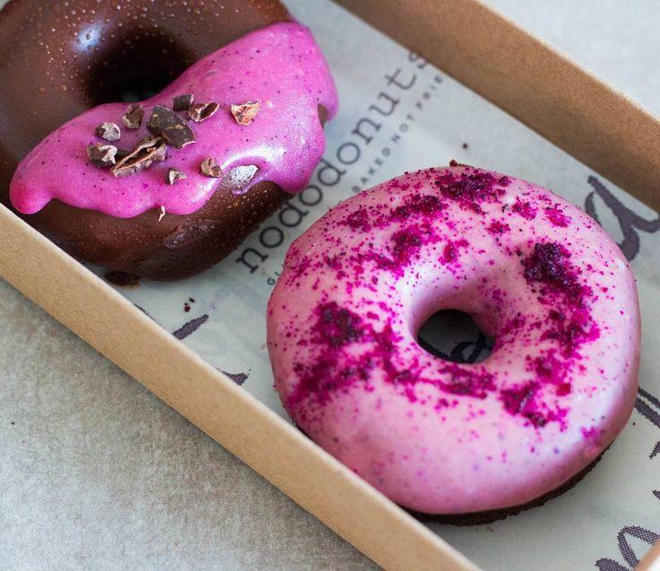 pink dragonfruit donuts