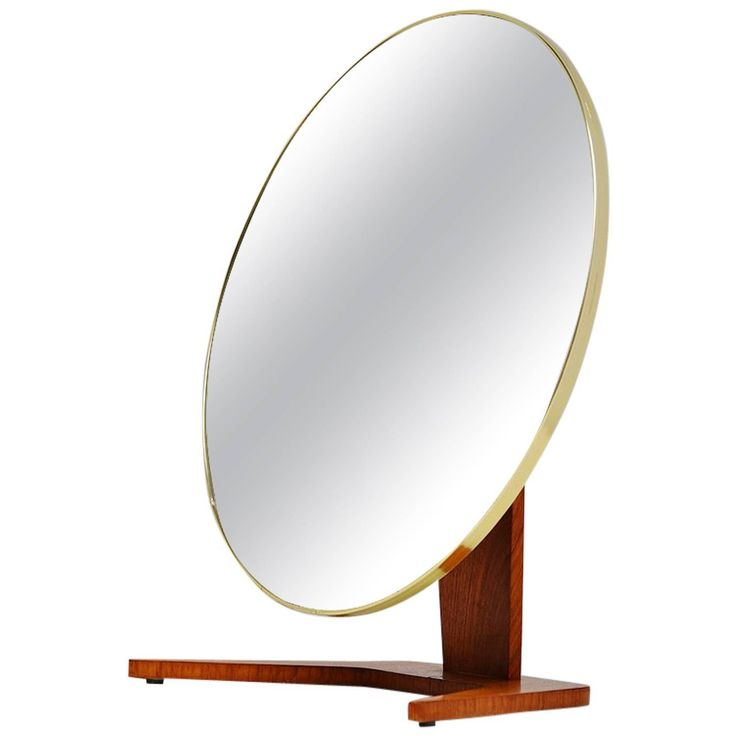 Dutch table mirror with brass details Holland 1960 | From a unique collection of antique and modern table mirrors at https://www.1stdibs.com/furniture/mirrors/table-mirrors/