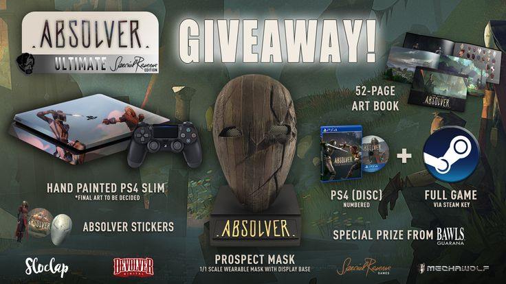 Devolver Digital - Win a Custom Absolver Edition PlayStation 4 & Gear - http://sweepstakesden.com/devolver-digital-win-a-custom-absolver-edition-playstation-4-gear/