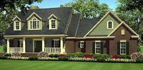 Elevation of Country   Farmhouse  Southern   Traditional   House Plan 55602