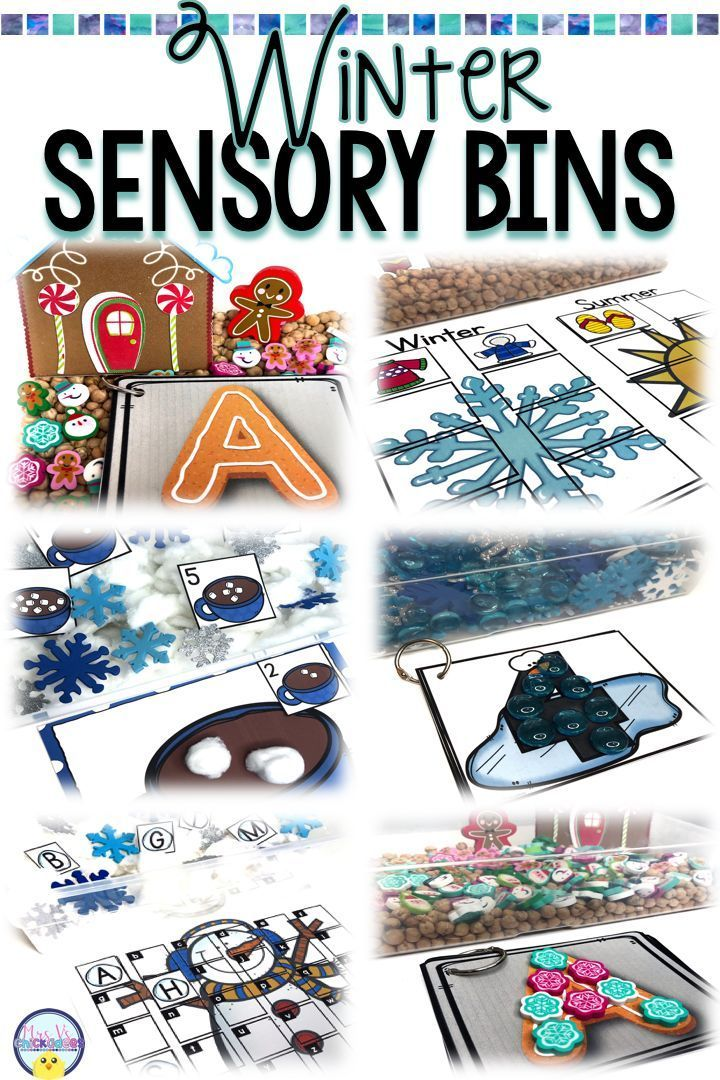 More Play Or More Academics For >> Winter Academic Sensory Bins Letters Numbers Counting