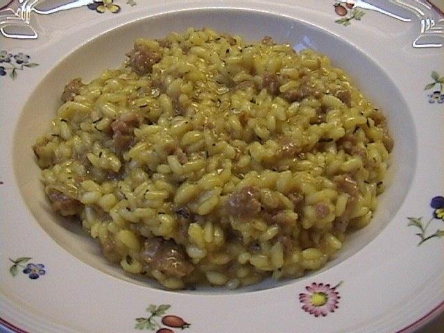Risotto con salsiccia (Risotto with Sausage)