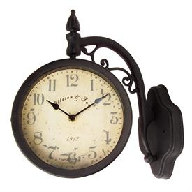 Durocraft Two Sided Hanging Wall Swivel Clock