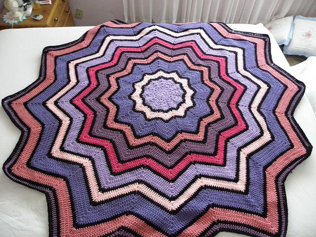 133 mejores imágenes de manta ganch. forma de estrella en Pinterest ...