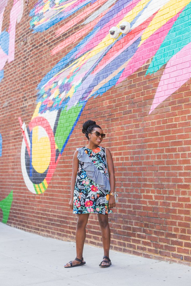 Wearing a House of Holland dress - Overwhelmed by Brooklyn? I'm sharing some of the best restaurants, street art and exhibitions that can be found across the East River in New York.