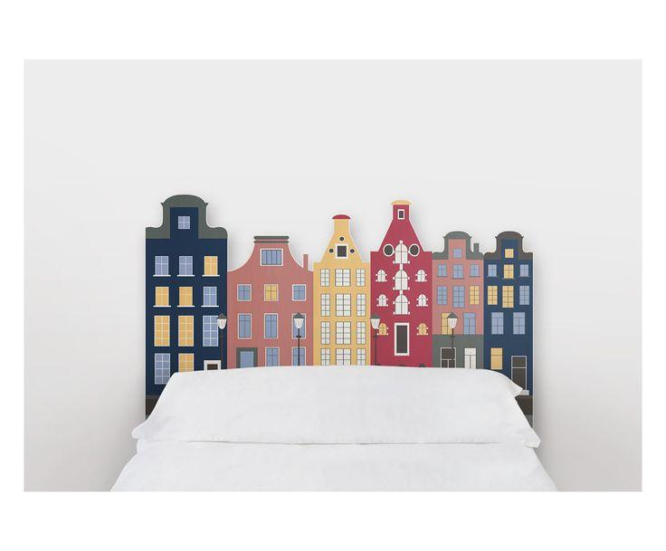 Testiera letto in legno di pino Amsterdam, 105x115x5 cm   Dalani Home & Living