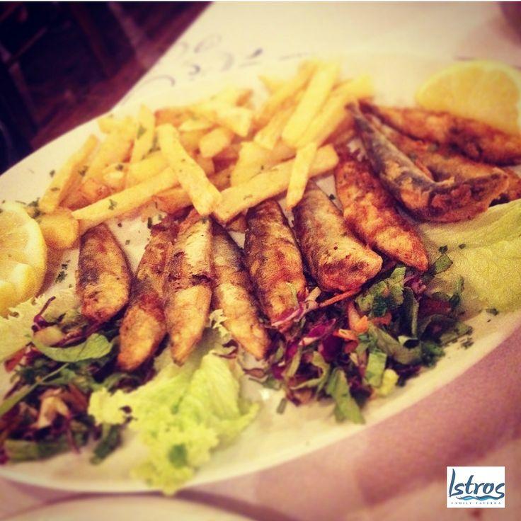 Fried Sardines at Istros!...#fresh #fish #sardines