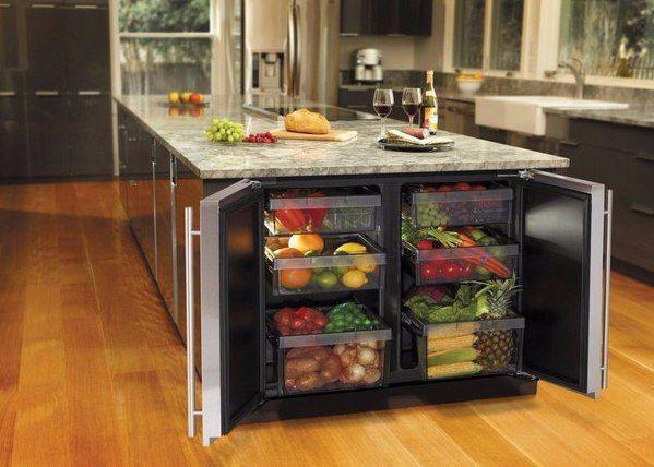 Кухня, стол-холодильник