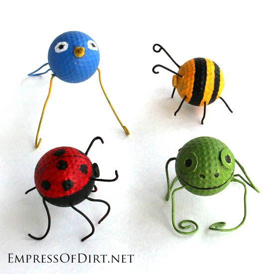 DIY Golf Ball Garden Buggies: A Recycled Craft Project - Empress of Dirt