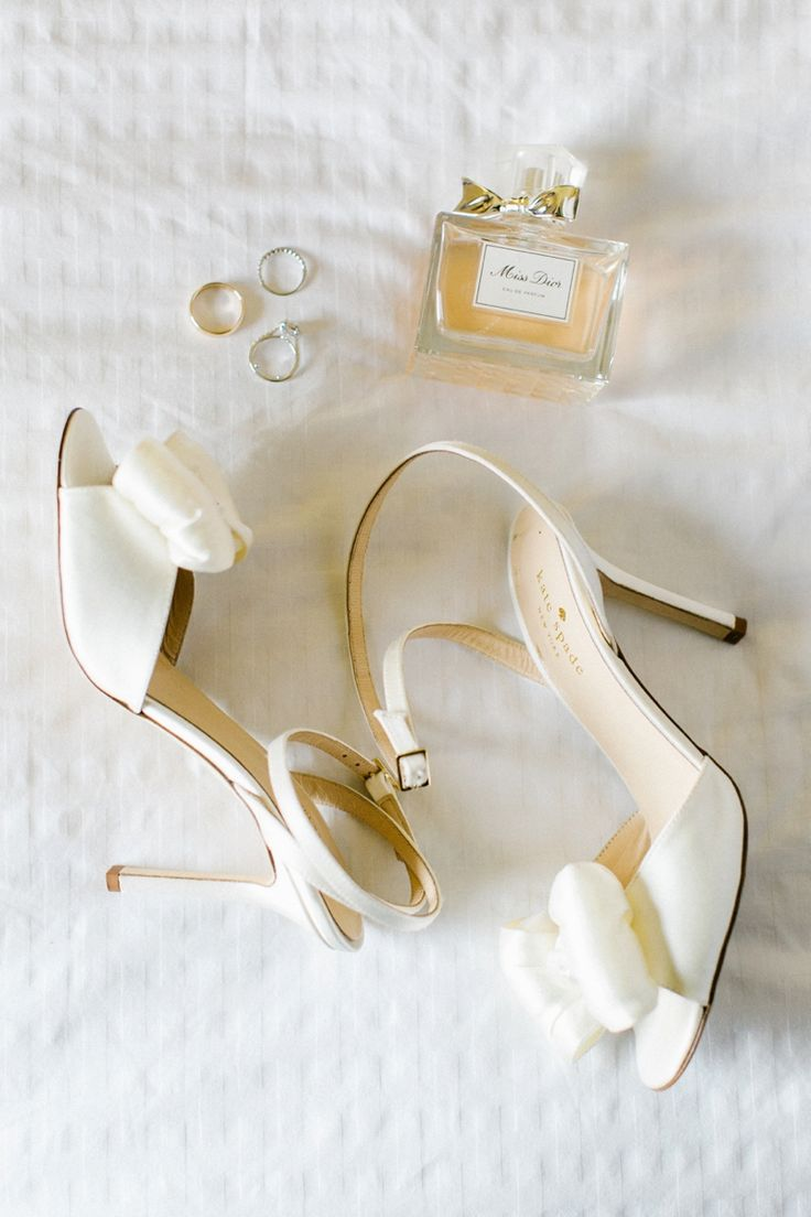 Dior perfume and classic bow shoes - the perfect details for any classic southern bride! | Morning Light by Michelle Landreau