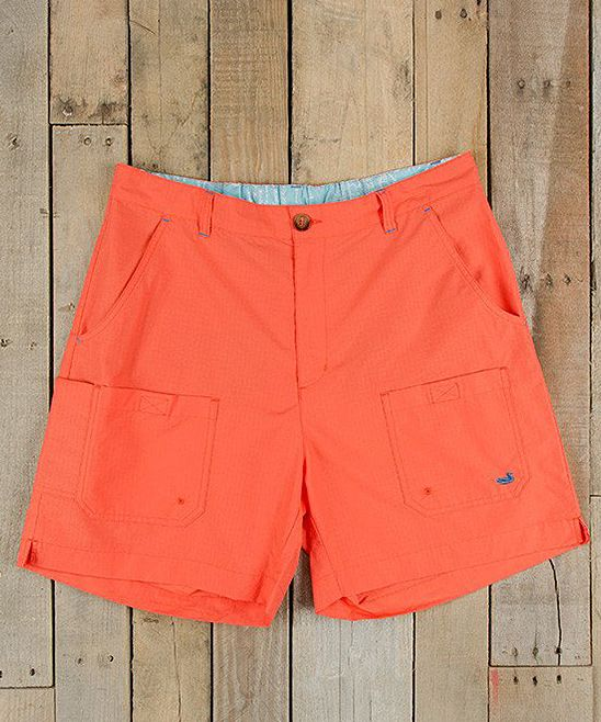 Neon Coral Tarpon Fishing Shorts - Men