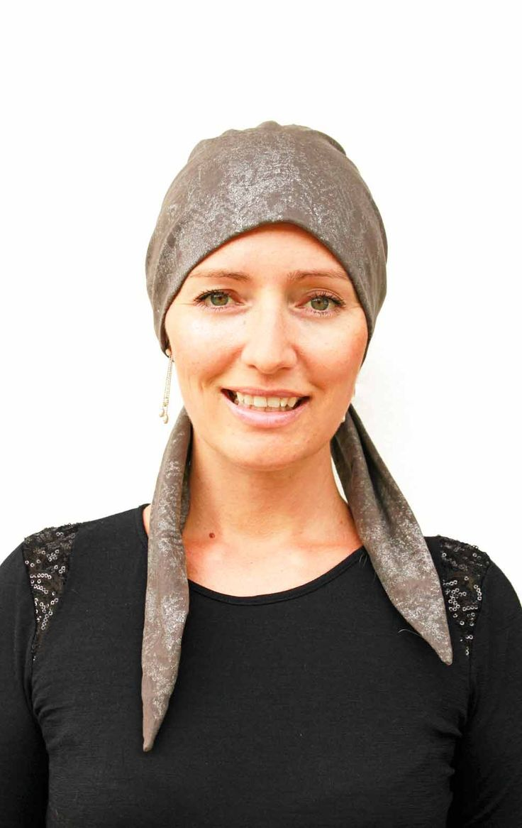 Hats for people suffering hair loss due to chemotherap - Foil Hat - So easy to wear xx