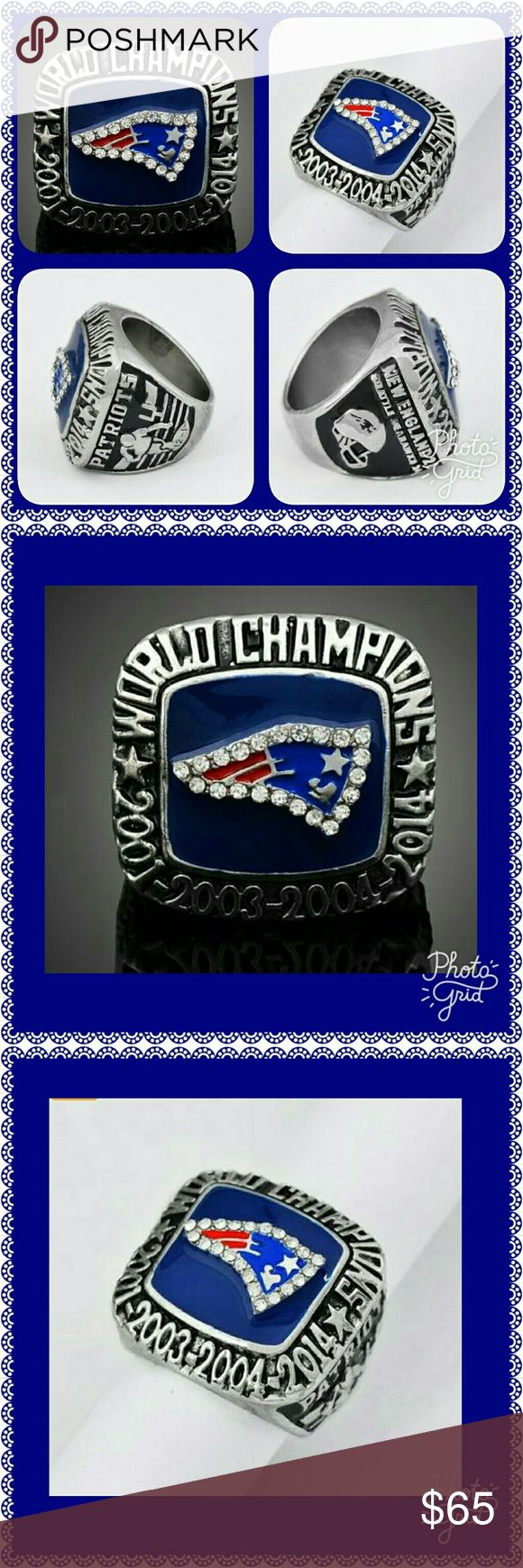 """🆕 🏈 NFL SUPER BOWL RING 🏈 🏈 2014 NEW ENGLAND """" PATRIOTS """" SUPER BOWL CHAMPIONSHIP RING. 🏈.   FASHION AND ENVIRONMENT HIGH QUALITY JEWELRY. 🏈 Accessories Jewelry"""