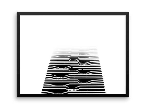Blurred Stripes Print | Wall Art | Cheap Art Prints | Large Wall Art | Architecture | Design | Home Decor | Black & White Photography Print